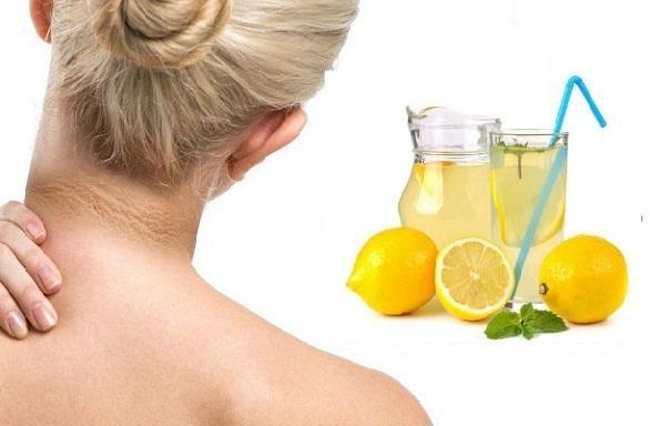गर्दन को साफ करने के उपाय हैं नींबू और गुलाब जल - Lemon Juice and Rosewater for Dark Neck in Hindi