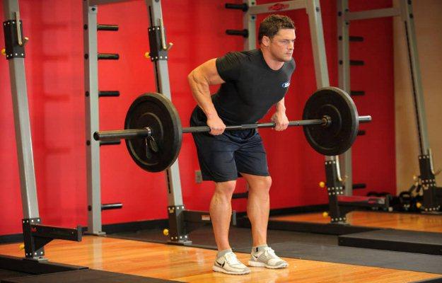 रिवर्स ग्रिपबेन्ट ओवर रॉ एक्सरसाइज़ बाइसेप्स को मज़बूत बनाए - Reverse grip bent over row for biceps in hindi